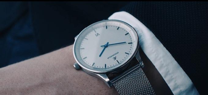Aevi Milanese. Silver case, metal dial, silver Milanese strap.