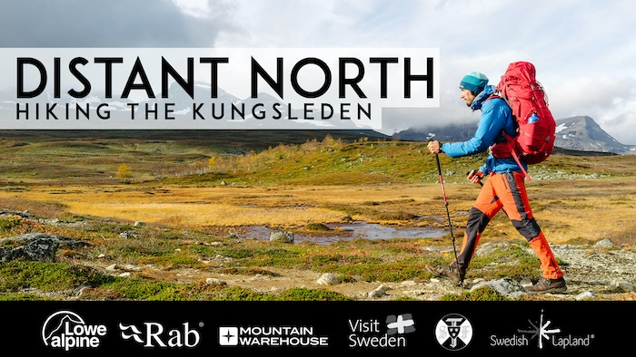 Four friends hiking the entirety of the Kungsleden - a historic trail through Arctic Sweden as autumn descends.