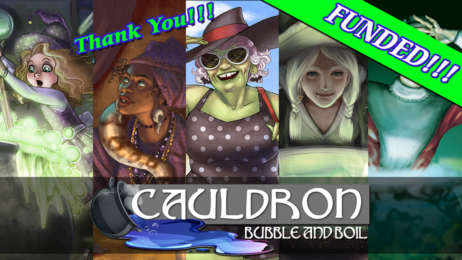 Cauldron: Bubble and Boil is a WICKEDLY FUN board game of hexing, gardening and potion brewing.  May the best (or worst?) witch or warlock win!
