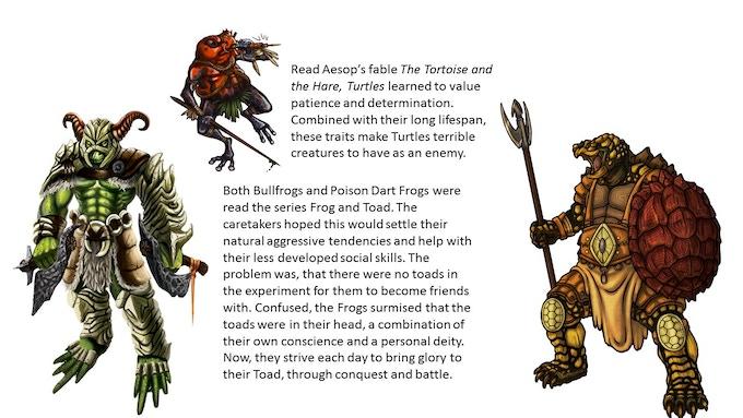 Bullfrog, Poison Dart Frog, and Turtle of the Herptile Hegemony