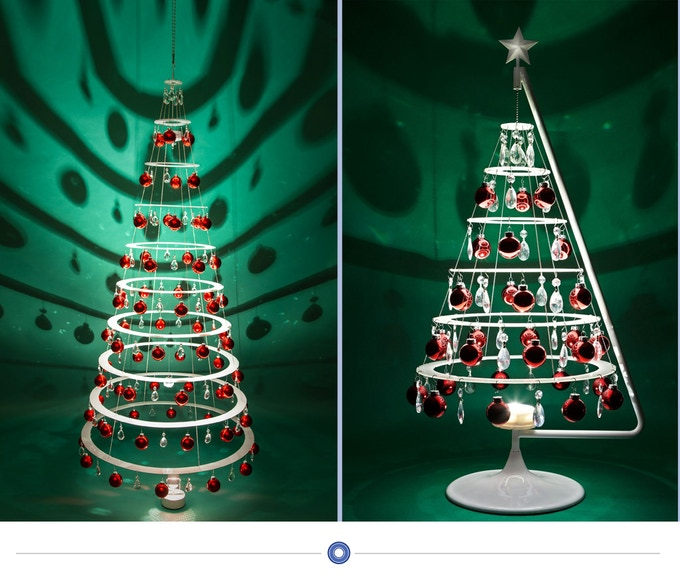 the jubilee and large modern christmas tree 699 - Large Cardboard Christmas Decorations