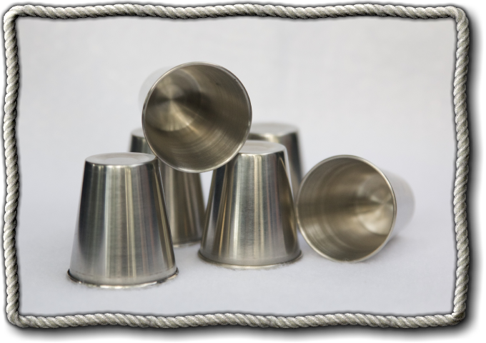 Premium Metal dice rolling cups