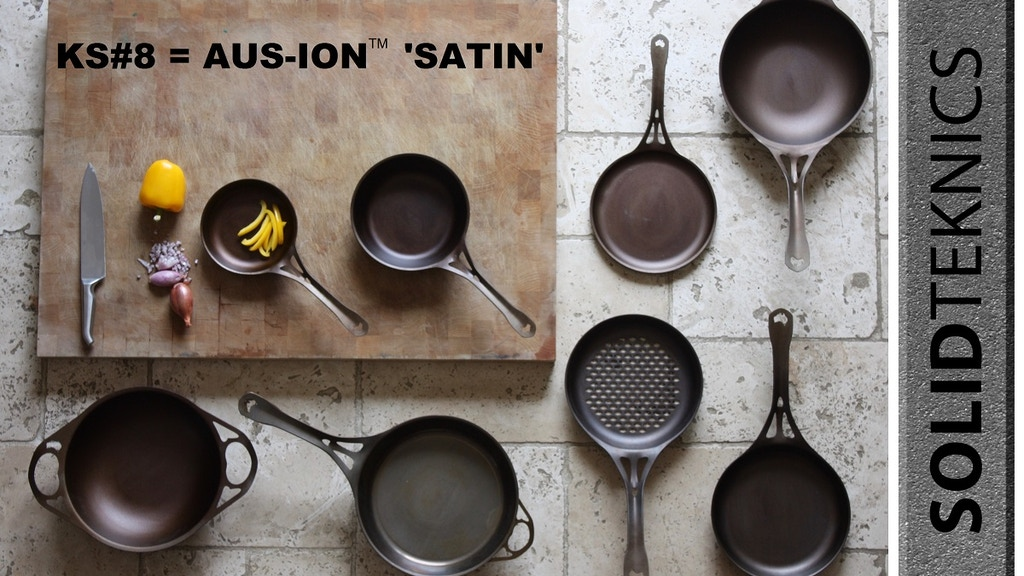 SOLIDteknics AUS-ION iron cookware: 1/2 weight of cast iron! project video thumbnail