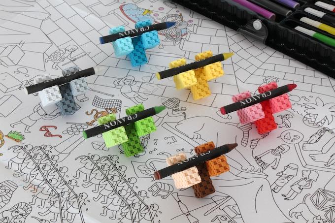 Lini cube - crayon holder