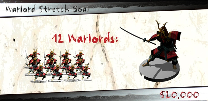Mark your 4 strongest warlords with these awesome samurai models