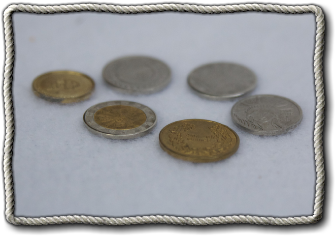 Sample coins from the Factory.  The design shall change.