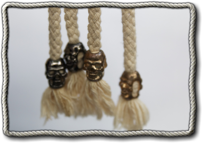 Pirate Skull Metal Cord Stoppers