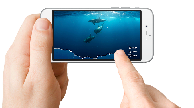Navigating through your dive data