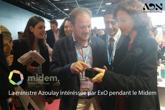 Mrs Audrey Azoulay, the French Minister of Culture, interrested by ExO