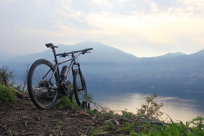 Mountain bike with BEST 250W on Garda Lake, Punta Veleno (Poison Peak)