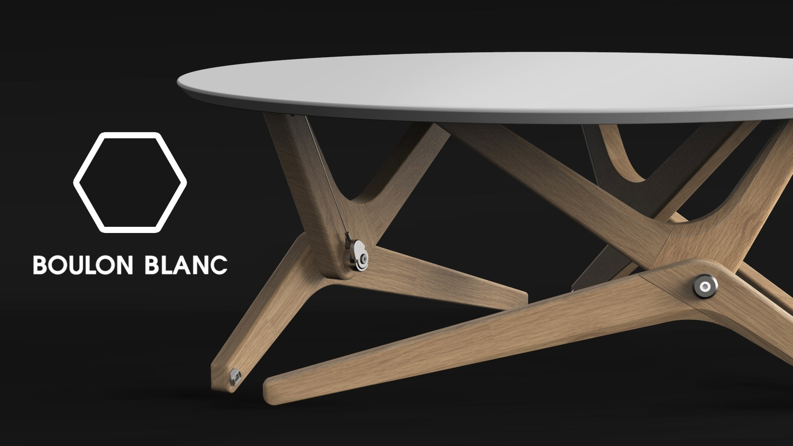 Boulon blanc the next generation of transformable tables by boulon from a coffee table to a diner table in 1 second elegant functional malvernweather Images