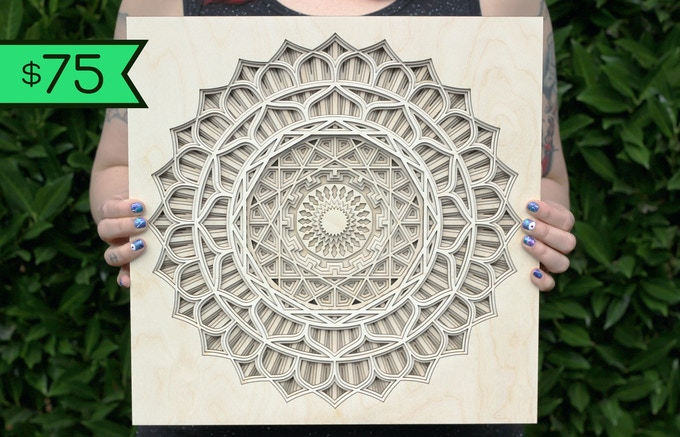 "$75 Reward: Sunflower Mandala 14"" x 14"" - Inspired by the rays of our Sun"
