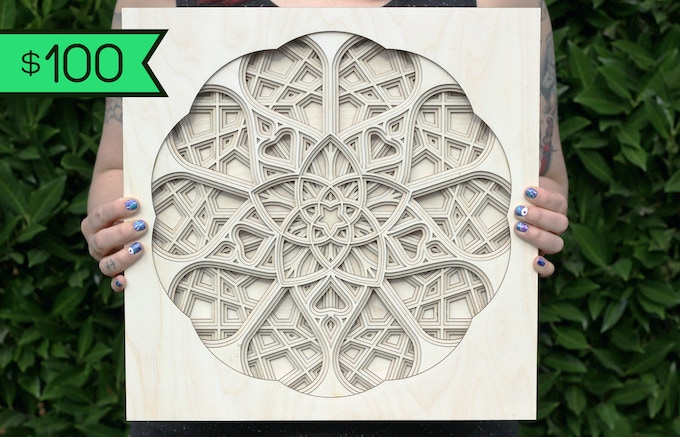 "$100 Reward: Sanctuary Mandala 14"" x 14"" - Influenced by French cathedral windows and the divine feminine"