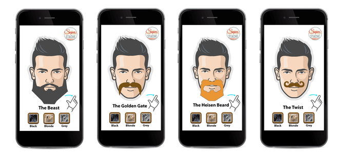 Beard & Moustache Virtual Showroom App