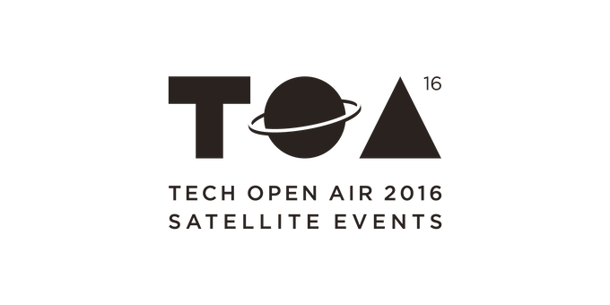 Lini cube with Kickstarter at TOA (Tech Open Air 2016)
