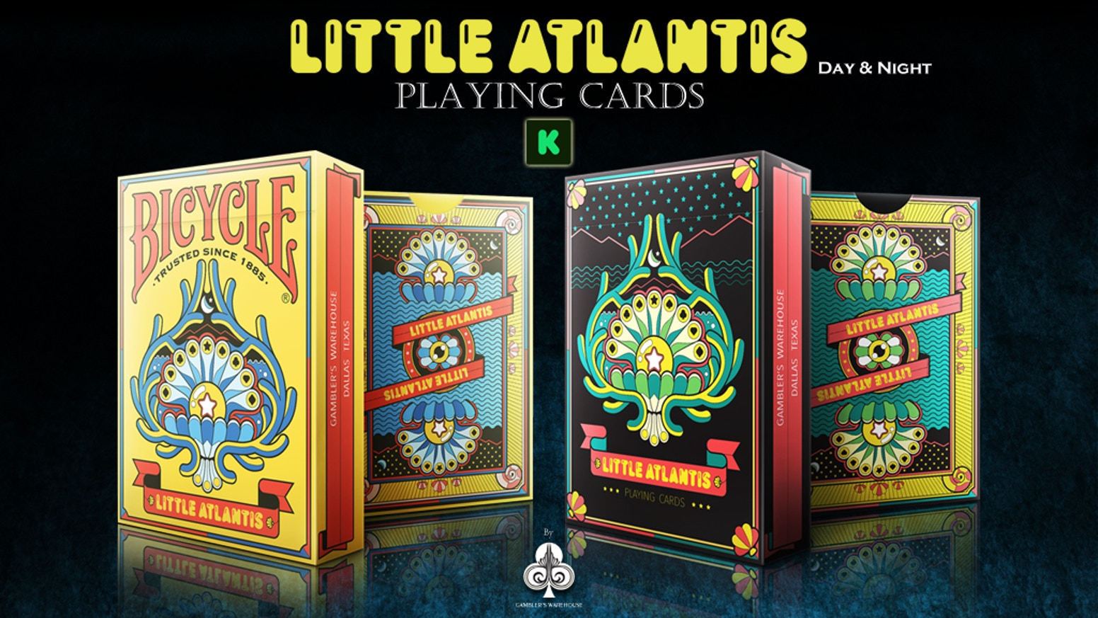 """""""Little Atlantis Playing Cards"""" unique theme based decks of Underwater Species in their own Little Peaceful World. Printed by USPCC."""