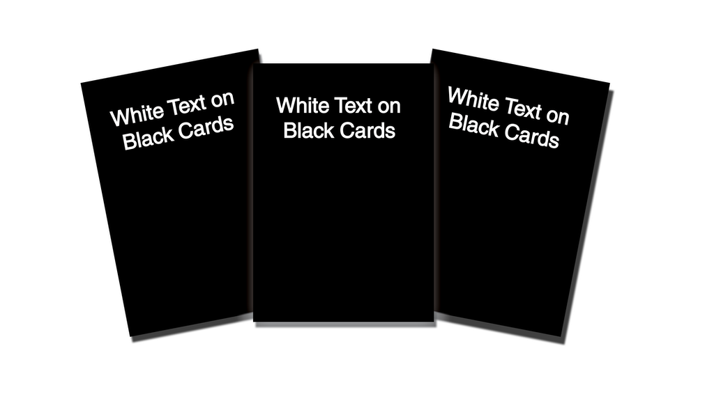 Project image for White Text On Black Cards