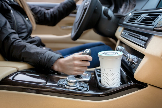 Freshen up your car: Wynd can clean over 70% of particles in a typical car cabin in under 10 minutes. Wynd fits in standard cupholders.