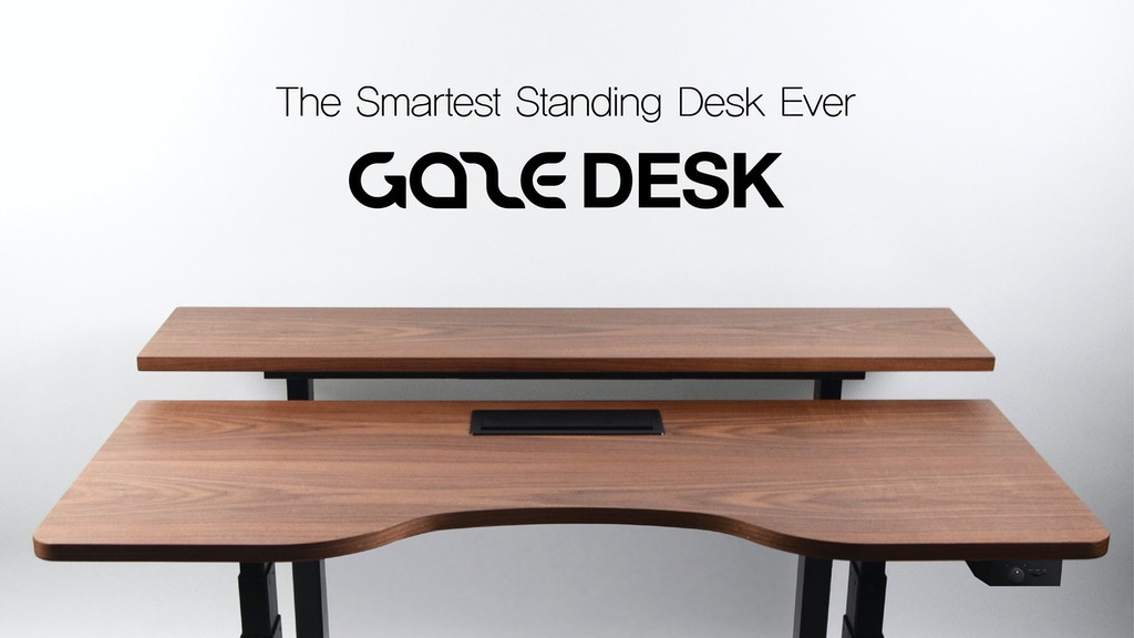 GAZE DESK : The Smartest Standing Desk Ever project video thumbnail