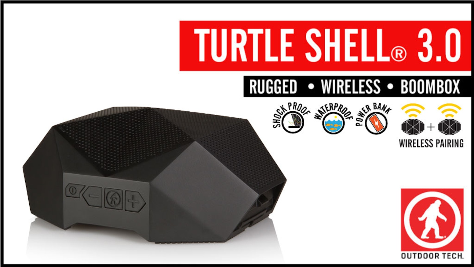 Rugged, waterproof, wireless speakers that can link together wirelessly. They also have a built in power bank for charging stuff.