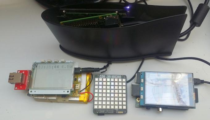 Solar/UPS Pi Platter for Raspberry Pi by Mike Seiler, Rocket Blue