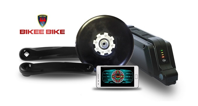 BEST ebike kit Bikee Bike Kickstarter (phone not included)