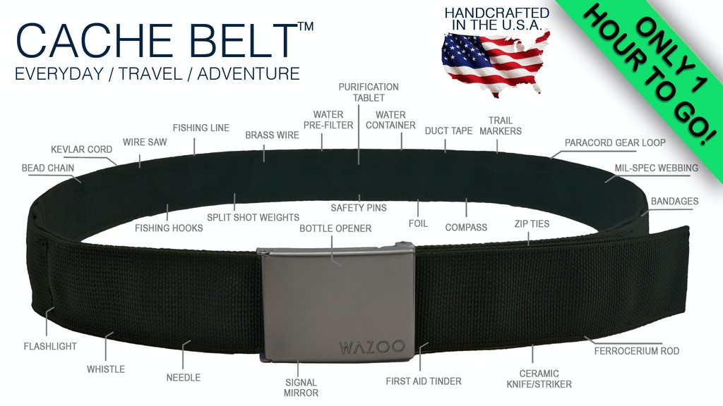 The Ultimate Everyday & Travel Accessory || Cache Belt™ project video thumbnail