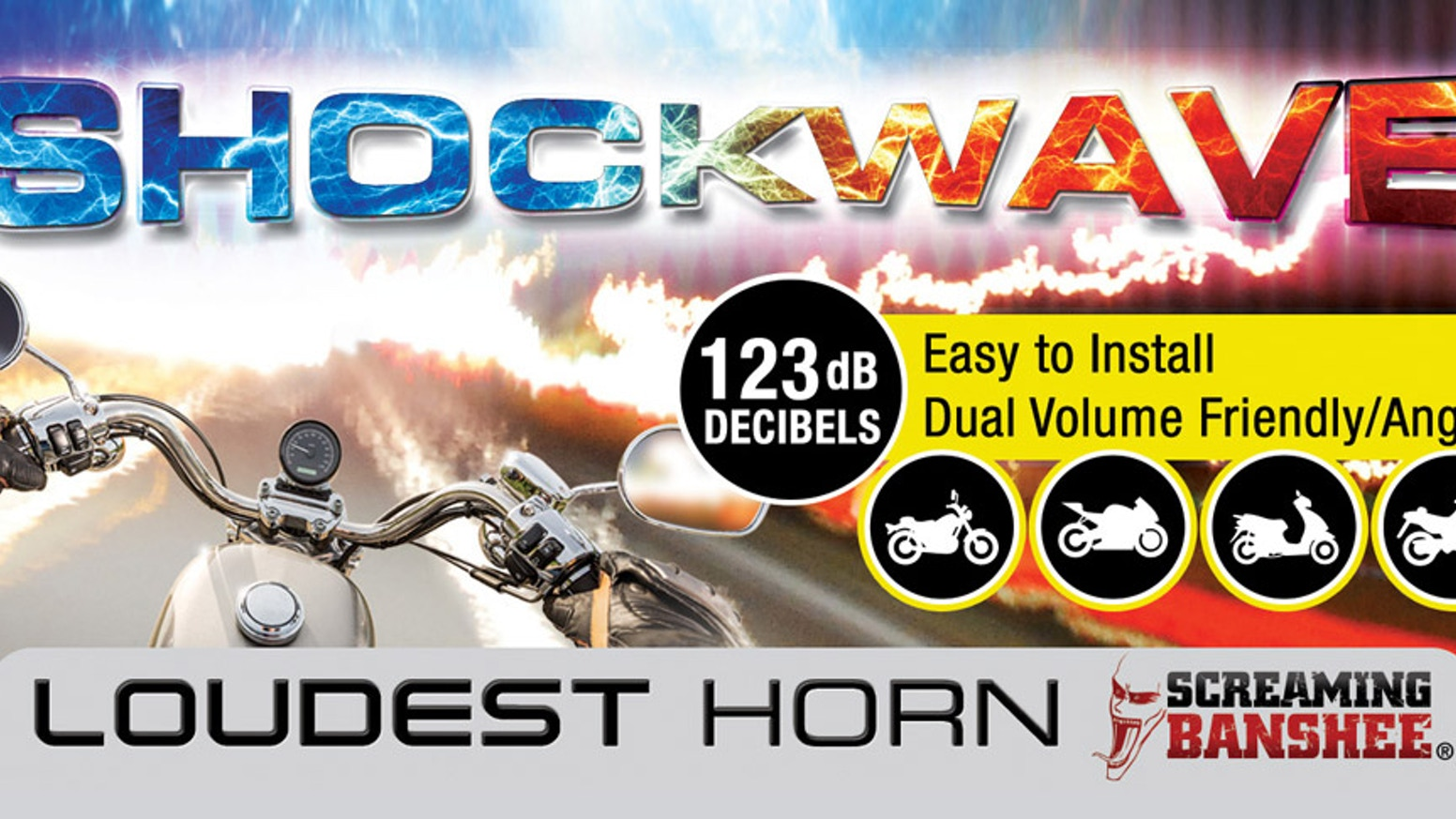 The Smallest, Loudest, Smartest Motorcycle & Scooter Horn Available. Dual volumes provide Friendly / Angry modes