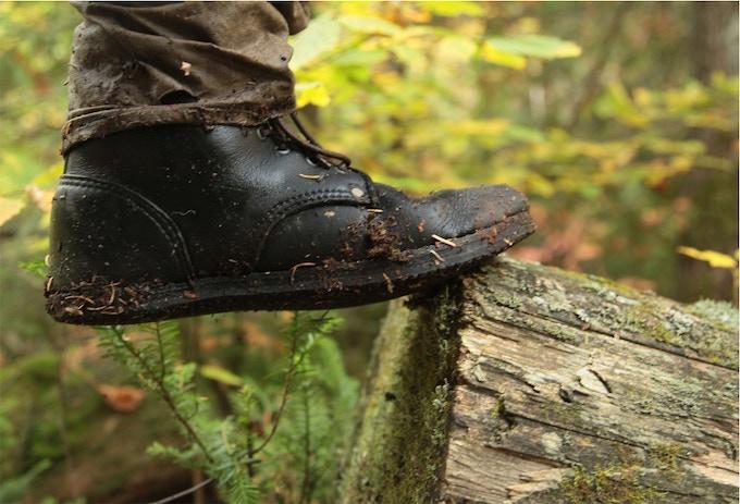 Internal stitchdown work boot