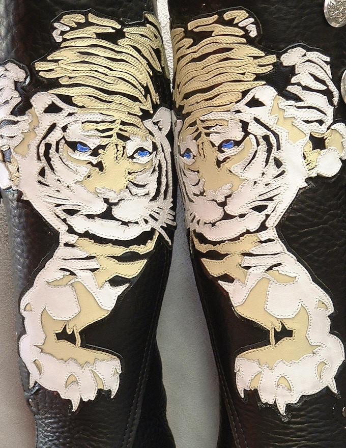 Ren Faire mocs with appliqué tigers