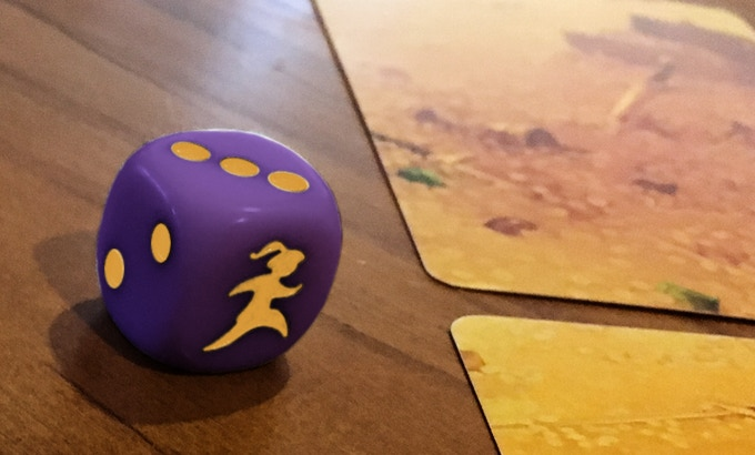 Hoard's custom die: backers overwhelmingly approved this color scheme.