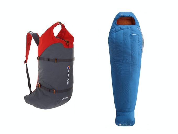 Montane Ultra Alpine 38 + 5 Pack and Minimus Sleeping Bag