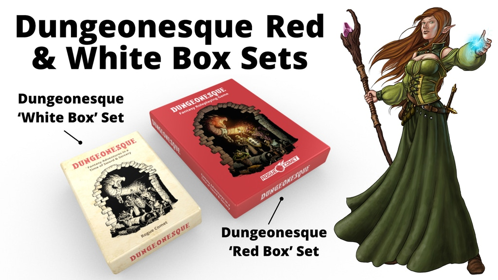 Dungeonesque Red & White Box Sets (5e RPG) project video thumbnail