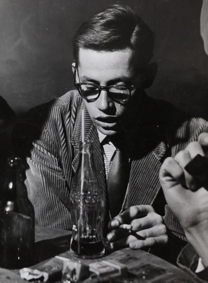 Dieter Rams at the Jazzkeller club in Frankfurt, circa 1955.