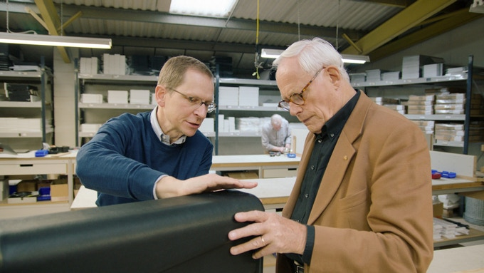 Dieter with Mark Adams of Vitsoe, London
