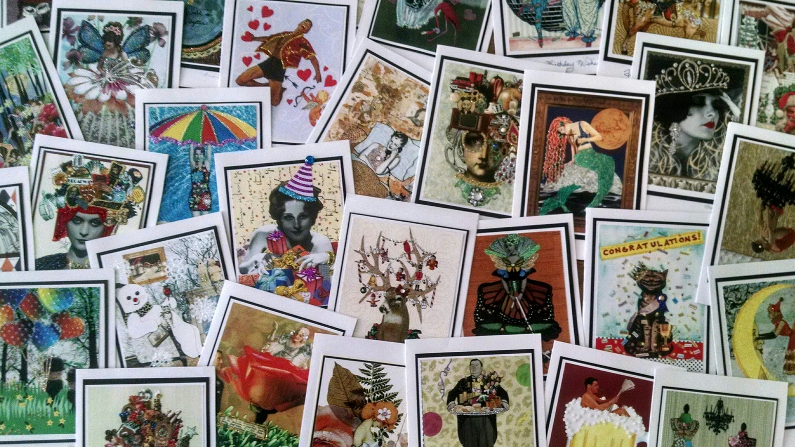 Sparkling Greeting Cards For Sending Collecting And Framing By