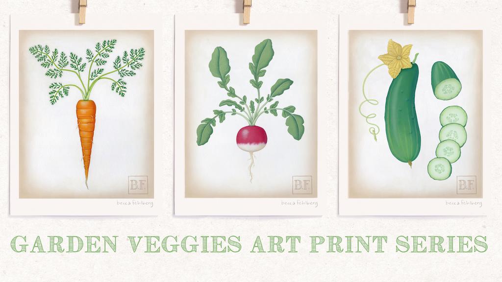 Garden Veggies Art Print Series project video thumbnail