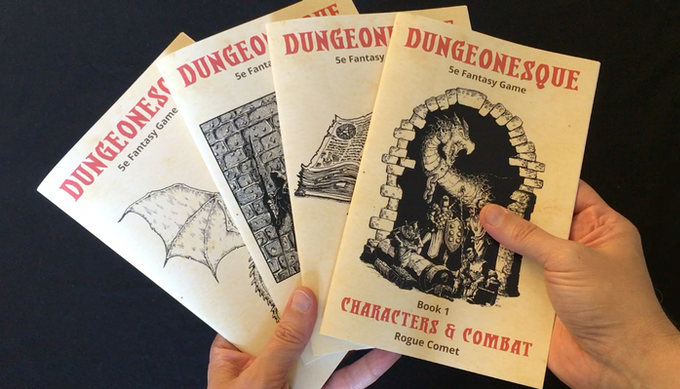 Dungeonesque Red & White Box Sets (5e RPG) by Rogue Comet