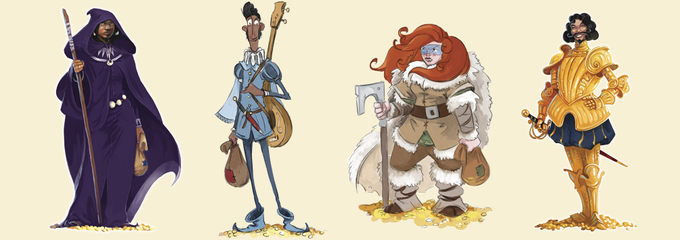 Hoard's four other characters