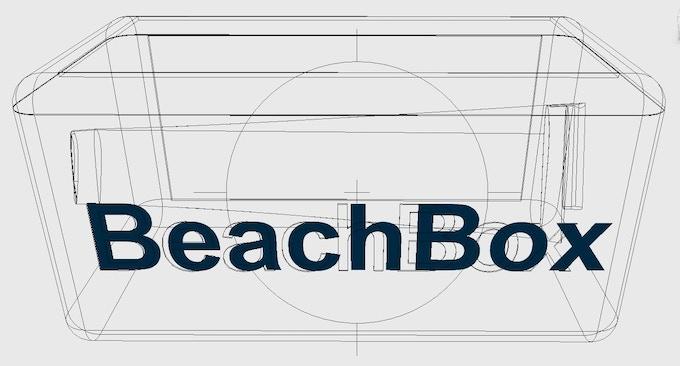 BeachBox's detachable wind generator blades fit inside it.