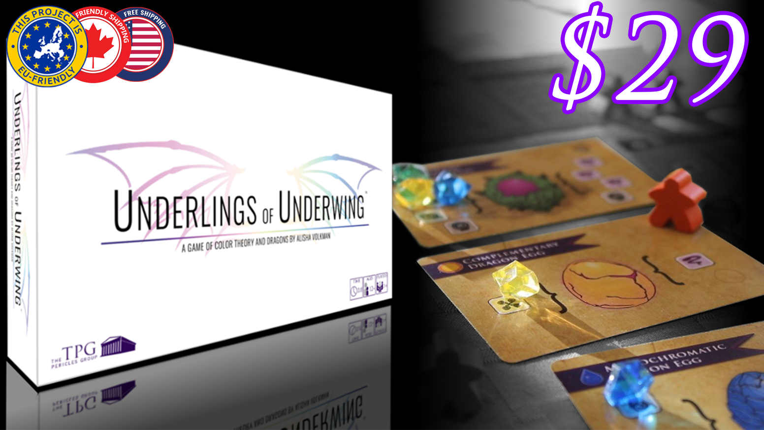 Underlings of Underwing is an award-winning worker placement game in which you infuse & hatch dragon eggs to become a great Dragonlord!