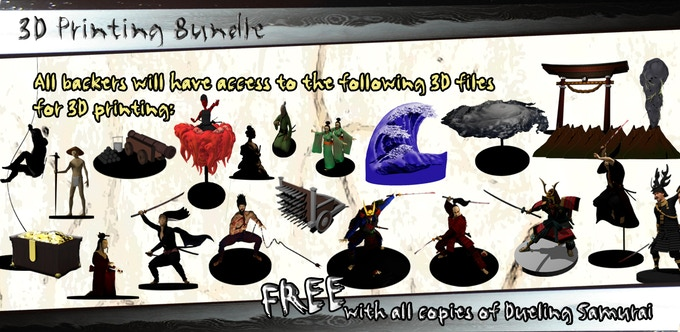 All backers will have access to 3D files for printing these awesome models on 3D printers