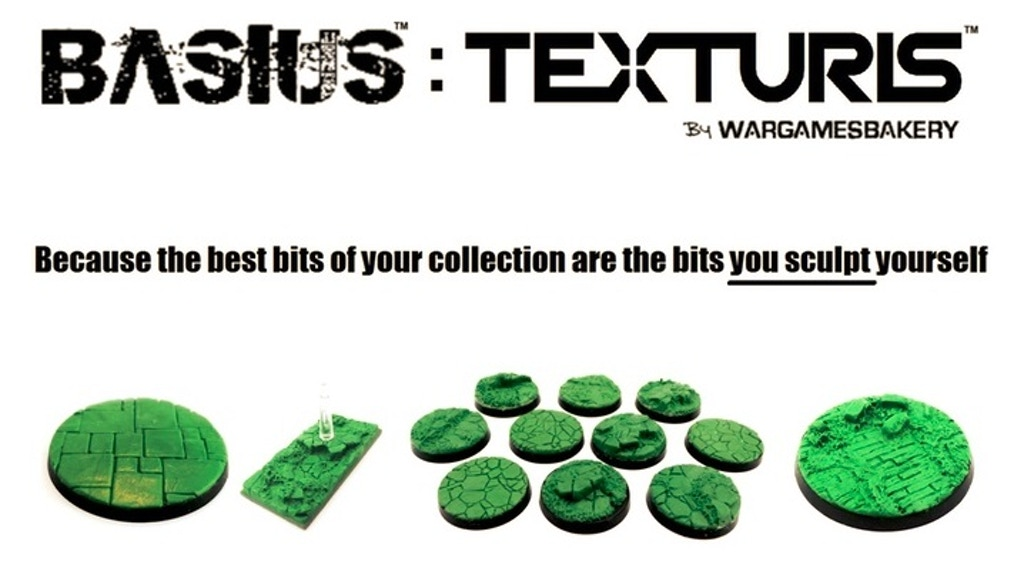 Kickstarters MOST POPULAR + MOST DETAILED Tabletop Wargaming Base Stamp + Scenery Texture Making System IS BACK - and its Evolved...!