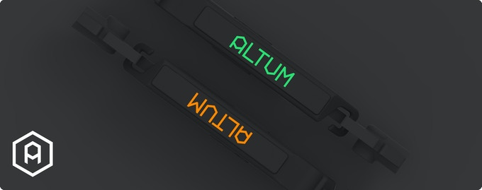 Choose between 'Altum Orange' or special edition 'Kickstarter Green'
