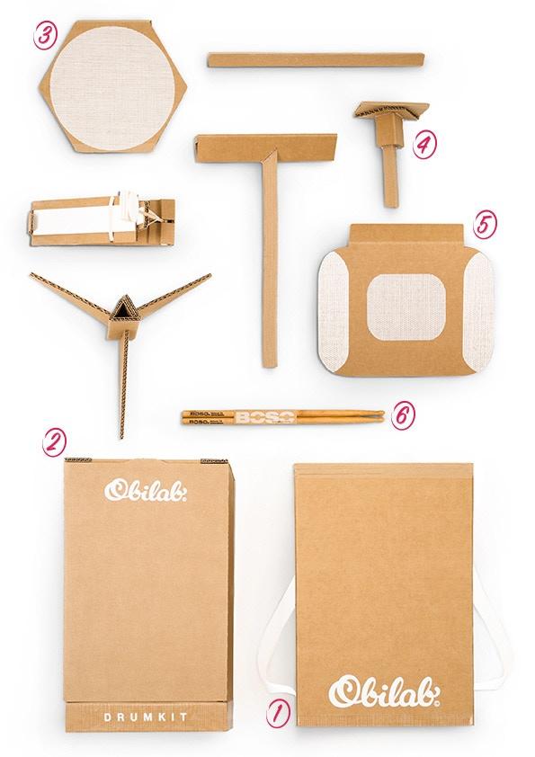 The cardboard DRUMKIT by OBILAB music — Kickstarter