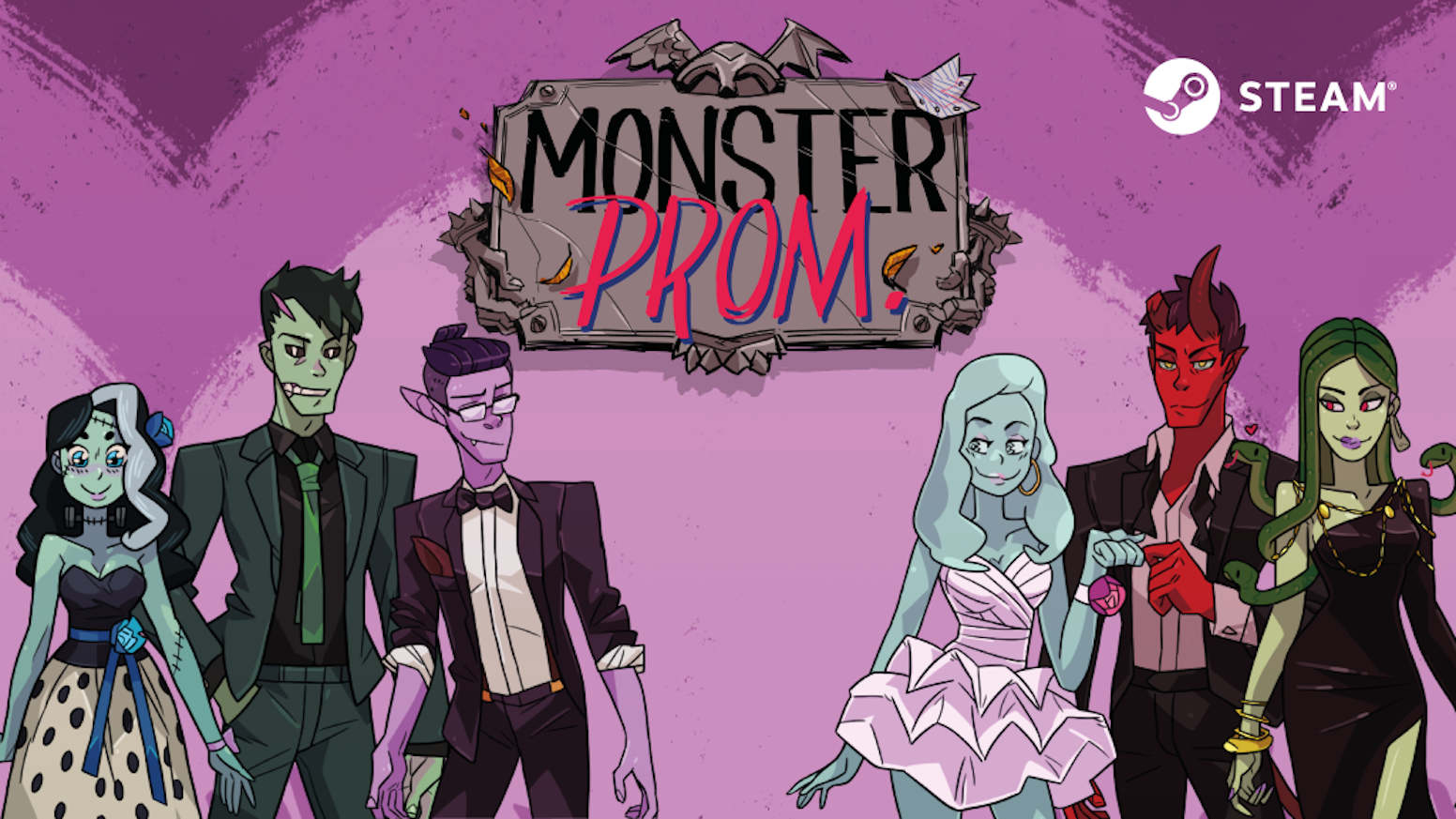 There are only 3 weeks left until prom! Go through all kinds of absurd and funny situations to seduce one of your monster classmates.