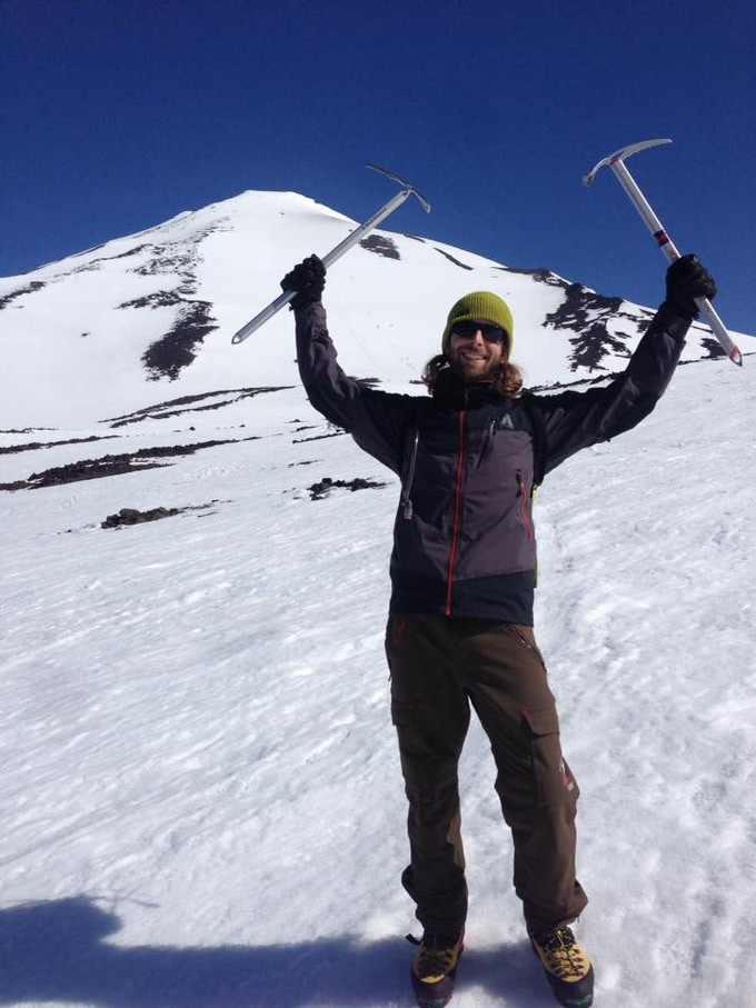 Ted, 3D artist wizard, happy climber and dual ice axe owner