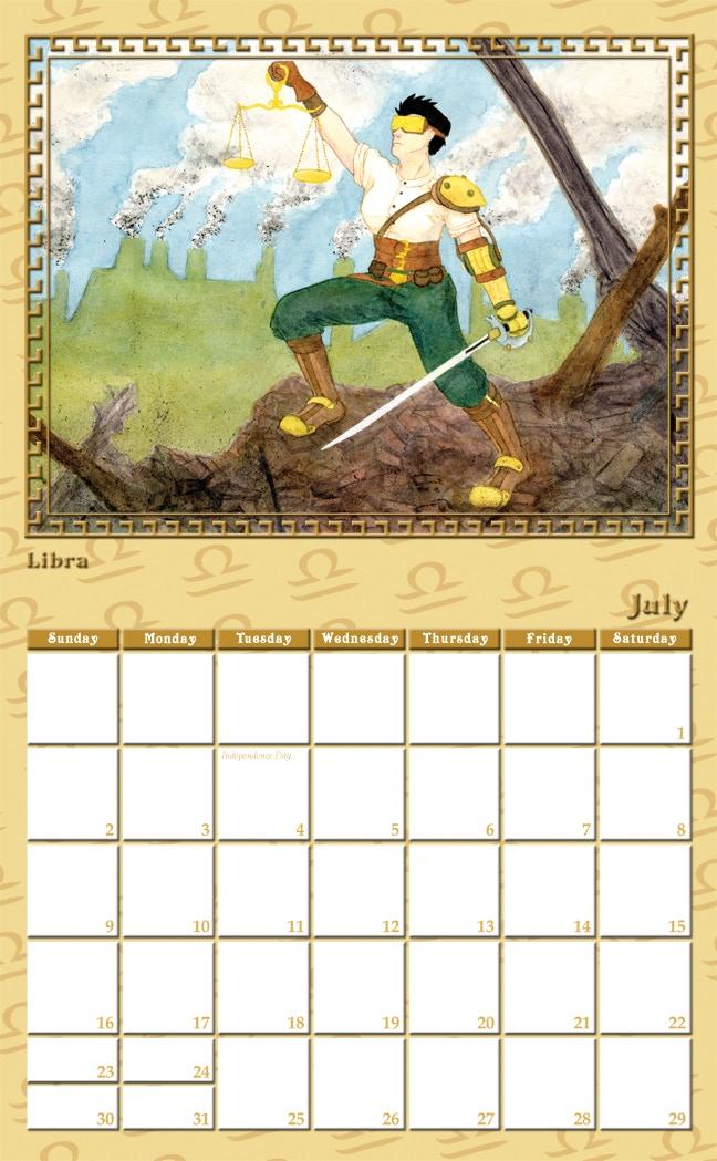Calendar Illustration Search : Steampunk zodiac calendar by karen luk —kickstarter