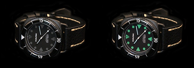 Black Out DLC Nereus V with Black Lume Lower Dial.