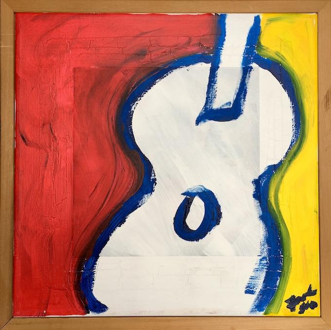 """Guitar"" acrylic on canvas by Forest Sun"